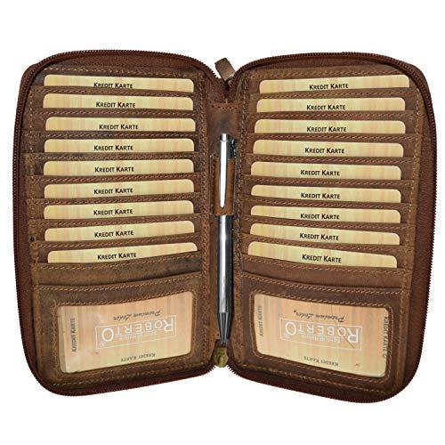 XXL grote portemonnee buisness tas vintage buffelleer pols tas vakantie reizen portemonnee