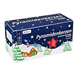 Jeka Kerzen Christmas Pyramid Carousel Candles, Medium 14mm - Red