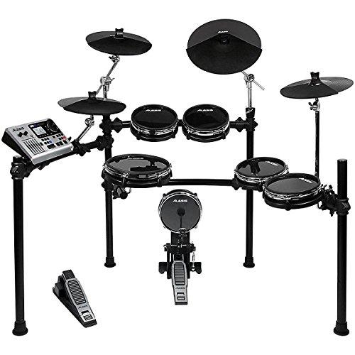 Alesis DM10 Studio Kit | Ten-Piece Professional Electronic Drum Set with Black Aluminum StageRack (Mylar Drum Pads)