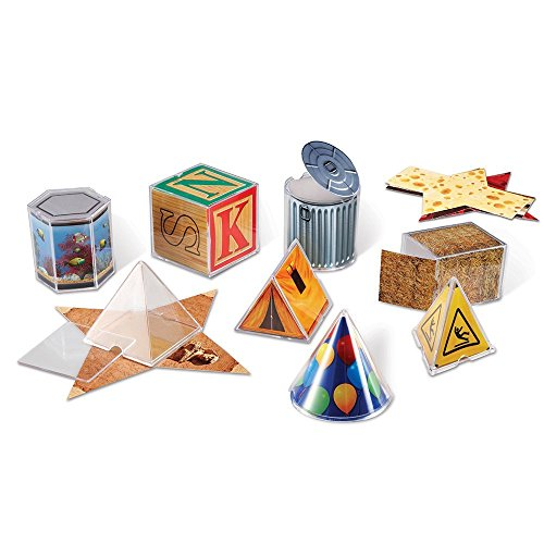 Learning Resources Real World Folding Geometric Shapes Set of 8,Multi-color