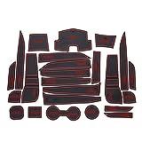 Qinghengyong Pad 24pcs / Set Puerta a Prueba de Polvo del Coche de Ranura Mat decoración Antideslizante Puerta para Grrove Almohadilla de Repuesto para Trax 2014-2016