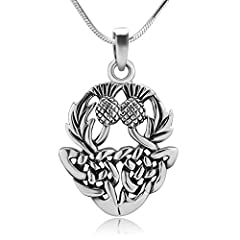 STAMPED 925 STERLING SILVER – This high quality of celtic thistle pendant and chain is made from the finest sterling silver as indicated with 925 metal stamp. 925 sterling silver is made from 92.5% silver and 7.5% copper. The copper is added to stabi...