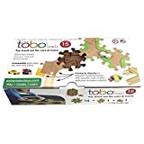 Tobo Track 15. The Smartest Fun Track for Your Kids - Brain Toy Award Winner Connects Directly to Thomas, Brio, Lego and Other Sets - Toddler Safe Eco Friendly Wood - Made in USA.