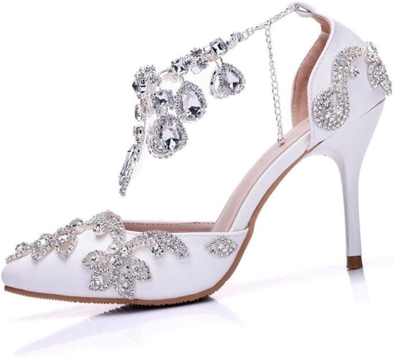 Frauen Schuhe Braut Braut Braut PU Hochzeit Diamanten Mary Jane Gericht Stiletto Pumps Größe 36To40  c28a13