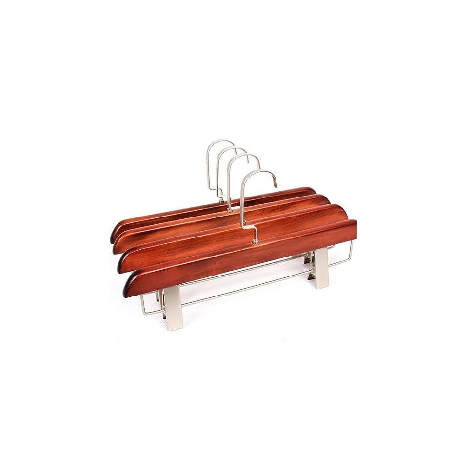 ワインケーブルカー禁じる純木ハンガーパンツクリップ5パック/ 10パック (Color : Red, Style : 10 packs)