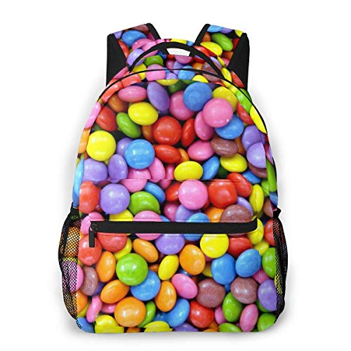 Shichangwei Mochila Escolar Rainbow Candy Durable Kids Back To School Backpack Polyester Book Bag For Boys Girls Adults