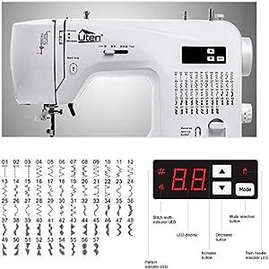 Uten Nähmaschine Elektrisch Freiarm Computer-Nähmaschine mit 60 Stichprogramme