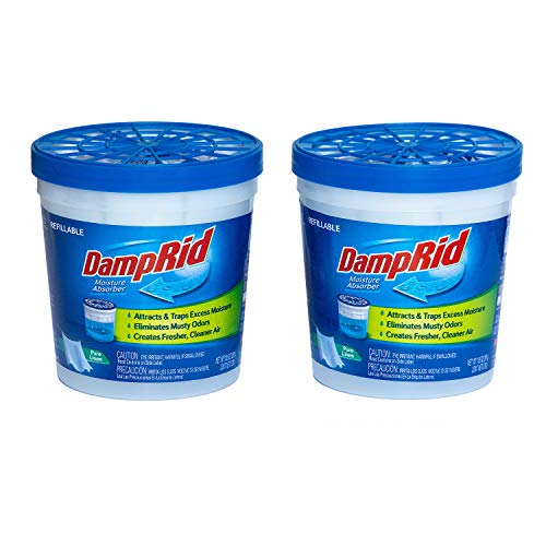 DampRid Pure Linen Refillable Moisture Absorber - 10.5oz cups - 2 pack – Traps Moisture for Fresher, Cleaner Air