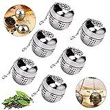 WELLXUNK Infusor de té colador de té, Filtro de té colador de té, colador de té con cadena de acero inoxidable, colador...