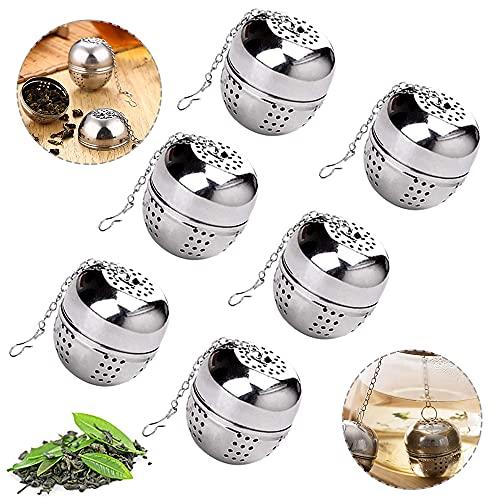 WELLXUNK Teeei Teefilter 6 Stück Edelstahl Teesieb,Rostfreier Edelstahl Teefilter,Extra feines Teefilter,Teeei Teefilter…