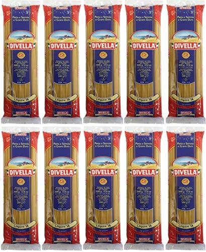Nudeln, Pasta Divella Linguine 14 (10 X 500g) - Vorratspaket
