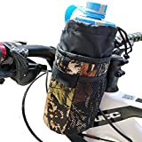 Chuanke Bicycle Bike Water Bottle Holder Bag,Insulated Stem Drink Bag,Camouflage Waterproof Storage Pouch with Shoulder Strap for All Bikers.
