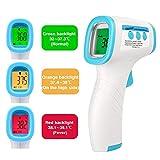 Outil de température frontale, lecture instantanée précise, Outil de température numérique infrarouge sans contact professionnel, adapté aux bébés, enfants, adultes