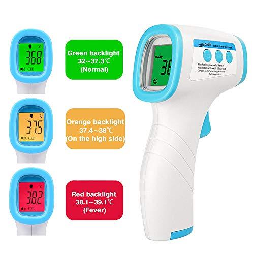 HSO Tech Pistola de temperatura – Termómetro digital sin contacto – Termómetro infrarrojo sin contacto – FDA, CE, RoHS – Aprobado por ISO ✅