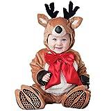 100% poliestere. Morbido, confortevole e traspirante. Stile di Natale squisito, renna, Babbo Natale, Elfo di Natale, pupazzo di neve. Adatto per Natale, fotografia, feste, spettacoli o come regalo. Per una misurazione più accurata, si prega di legger...