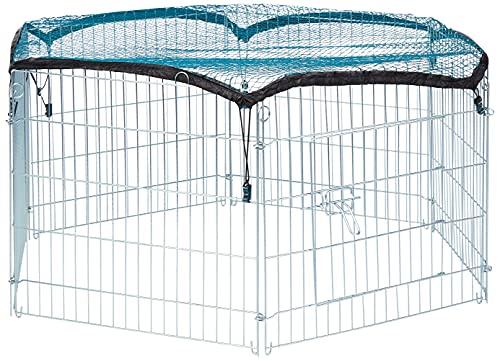 Trixie Natura Enclos avec Filet Galvanisé 6 Eléments de 63 × 60 cm pour Lapin