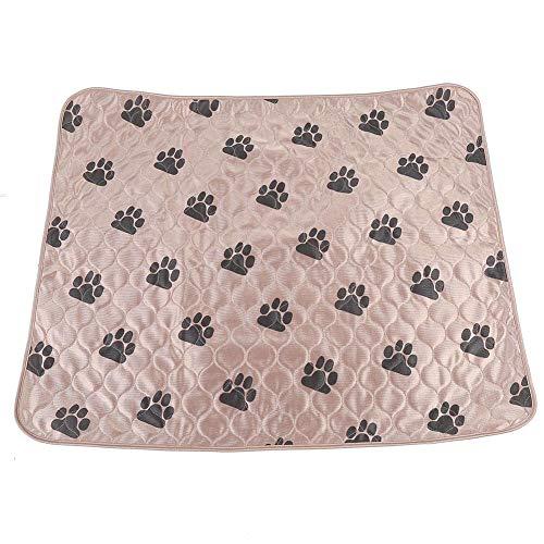 East buy Dog Pee Pad, Wiederverwendbare wasserdichte Dog Pee Pad Bett Urinmatte für Hunde Hunde Katzen(80 * 90cm-braun)