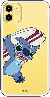 Funda para iPhone 11 Oficial de Lilo & Stitch Stitch Transparente para Proteger tu móvil. Carcasa para Apple de Silicona Flexible con Licencia Oficial de Disney.