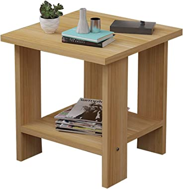 Virod-Desks Side Table, Modern Simplicity Small Apartment Coffee Table, Square Table, Suitable for Living Room Sofa Side Bedr