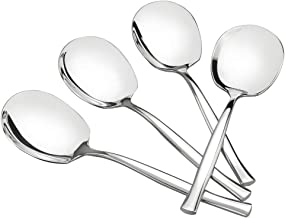 Idomy 8-Piece Stainless Steel Buffet Serving Spoon, Large Serving Spoon