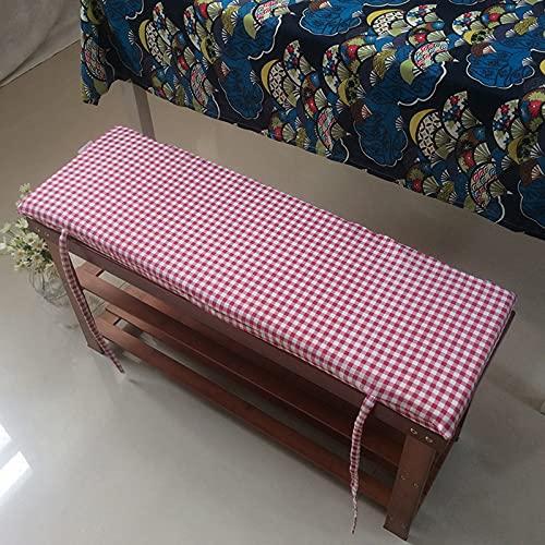LXX Cojín de Tumbona Patio Bench Cushion Interior Asiento al Aire Libre Almohadillas Colchón Reclinable Sofá Tatami Tatami Rocking Silla Cojines,h,30x100cm(12x39inch)