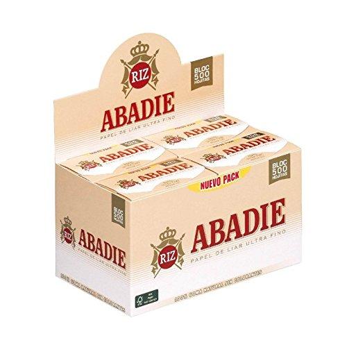 PAPEL DE FUMAR ABADIE 78MM BLOC 500 HOJAS (CADA ESTUCHE CONTIENE 20 LIBRITOS)