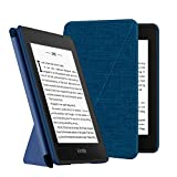 Ayotu Fabric Folding Case for Kindle Paperwhite (10th Generation, 2018 Release) E-Reader, Standing Origami Slim Shell Coverwith Auto Wake/Sleep, Support Hands Free Reading,Blue