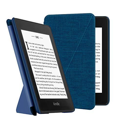 OLAIKE Estuche de Tela para Kindle Paperwhite (10a generación, Versiones 2018) E-Reader, Cubierta de pie Compatible con Lectura Manos Libres con activación/suspensión automática,Azul