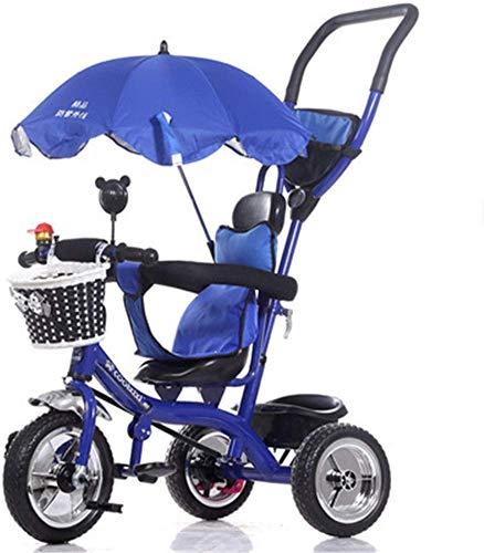 FEE-ZC Bici Pieghevole Universale per Bambini Triciclo Sun Canopy di 1-5 Anni di Bicicletta