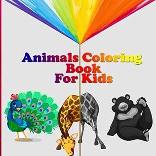 Animals Coloring Book For Kids: 35 Animals Including Farm Animals, Jungle Animals, Woodland Animals and Sea Animals (Jumbo...