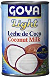 Goya Leche de Coco Light - 12 Paquetes de 400 ml - Total: 4.8 l