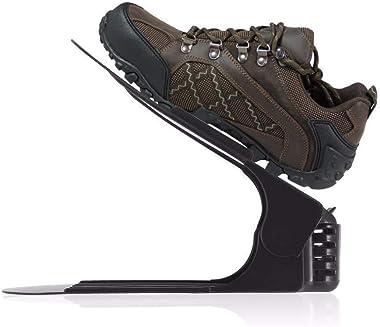 BSBDA Footwear Support Slot Space Saving Cabinet Stand Double-Layer Storage Rack Adjustable Folding Plastic Shoe Rack Organiz