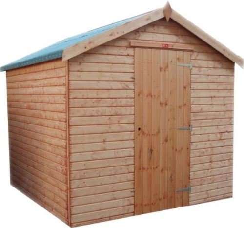Pinelap 8x5 quality fully T&G wooden euro apex garden shed timber