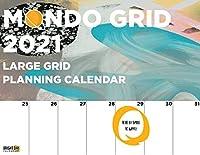 Bright Day Calendars 2021モンドグリッド壁カレンダー、12 x 12インチ、大きな巨大なジャンボモンスタープランナーオーガナイザー 12 x 12インチ 抽象芸術