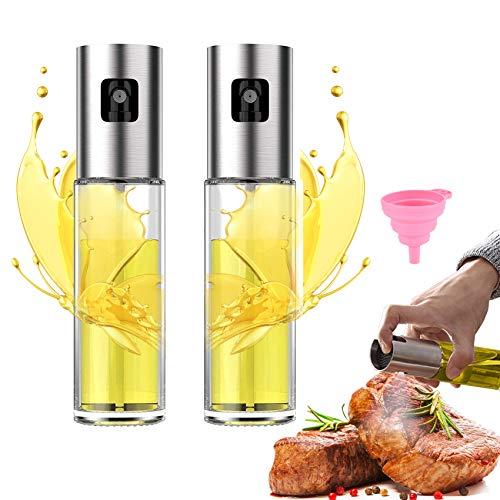 Oil Sprayer for Cooking Misto Olive Oil Sprayer for Cooking Air Fryer Pump Oil Sprayer with Silicone Funnel for Salad Making Baking Roasting BBQ 2 Pack …