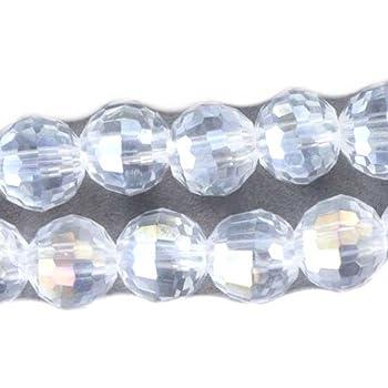 30 Pieces AB Red Czech Glass Tiles 8mm Beads CG638