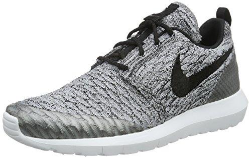 Nike Herren Roshe NM Flyknit SE Laufschuhe, Silber (Wolf Grey/Black-White), 39 EU