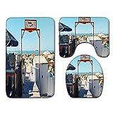 DREAMING-Paisaje De Playa Alfombra De Baño Alfombra De Baño De Tres Piezas Alfombra De Baño Juego De Puerta Alfombra De Baño Alfombra De Baño 50cmx80cm