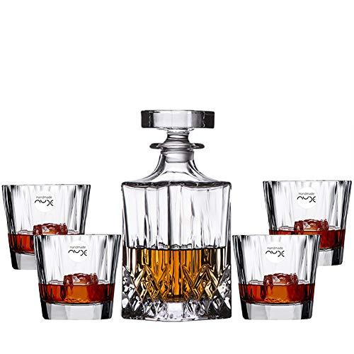 Juego de 5 vasos de whisky, regalos para hombres, vaso de cristal...