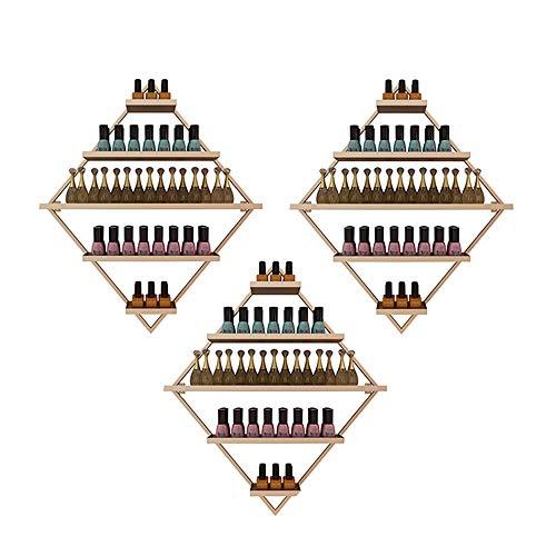Montaje en La Pared Expositor de Esmalte de Uñas de Metal,Tienda de Uñas Expositor de Esmalte de Uñas Dorado de 5 Capas, Perfume de Aceites Esenciales/estante de Almacenamiento de Aceites Esenciales