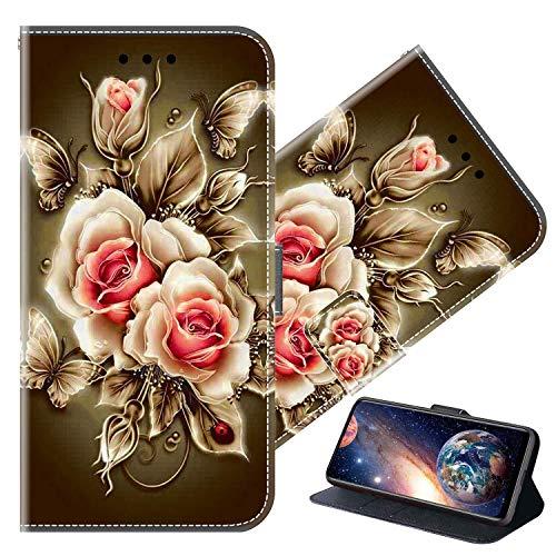 Cherfucome Funda para Xiaomi Mi Mix 3 5G Carcasa Libro Flip Case Magnético Funda de Cuero PU Carcasa Xiaomi Mi Mix 3 5G Funda Móvil Case Flip Leather Wallet [B07*Rosa]