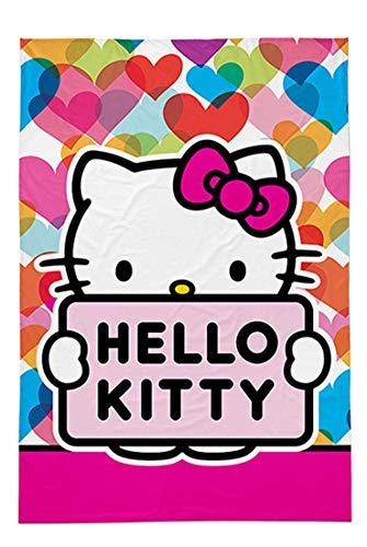 Kinder Handtuch Gästetuch Gesichtstuch Hello Kitty Kiti – Baumwolle - Geschenk für Mädchen (Hello Kitty - 60 x 40cm)