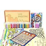 househome - Juego de pintura sobre arena, diseño de mapas de arena para niños para colorear, bricolaje, papel artesanal, pintura sobre arena hecha a mano