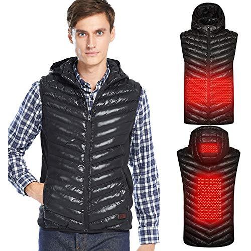 Verwarmd vest elektrisch jack heren USB lader verwarmend vest met 3 facultatieve temperatuur voor outdoor-activiteiten wandelen jacht motorfiets camping