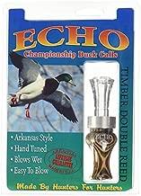 Echo Calls Diamonwood Timbers Double Reed Duck Calls, Natural