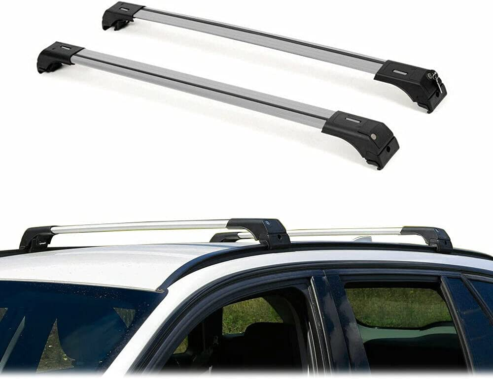 Jiang Yu Customized Roof Rack Bars Co Carrier Max 61% OFF Luggage Set Silver Gorgeous