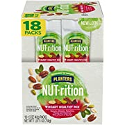 Nut-Rition Heart Healthy Mix, 1.5 oz Bags (Pack Of 18) - On-The-Go Snack, Work Snack, School Snack - Camping Snack And Active Lifestyle Snack - Satisfying Nut Mix - Kosher Certified