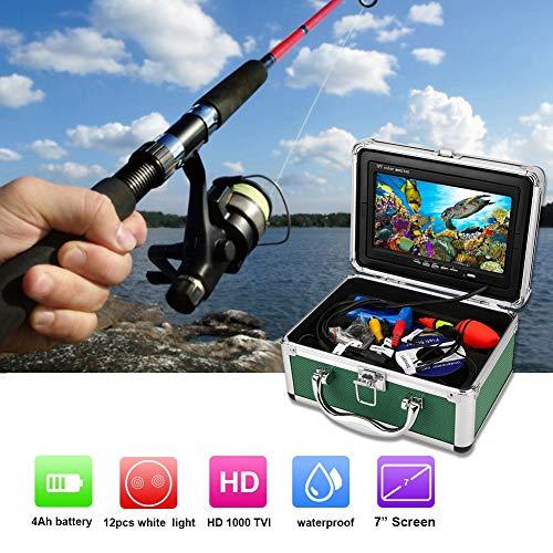 Onderwatercamera, viscamera HD 1000TVL-camera in visvorm, 7-inch monitor fishfinder onderwatervideocamera met 20 m kabel (EU-stekker)