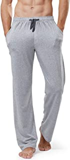 Clicks Men's Long Drawstring Plain Pyjama Lounge Bottoms Pants Soft Jersey Casual Basics Cottton Bottoms Sleep Pants with ...