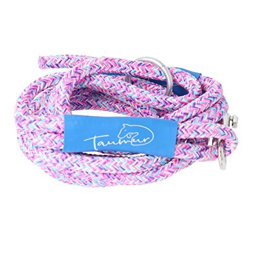 Taumur Jomfruborg - leichte City Hundeleine - lila/rosa/hellblau/weiß - Leine für kleine Hunde aus robustem PPM